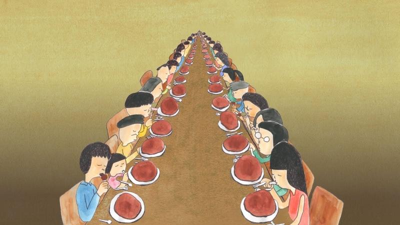 食べる人たち(村本 咲) People who are eating (Saki MURAMOTO)