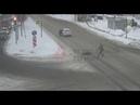 ДТП на перекрестке проспекта Фрунзе/Светлая (14 02 19)