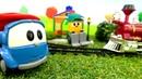 Машинки Лева и Грузик. Видео для детей. Железная дорога