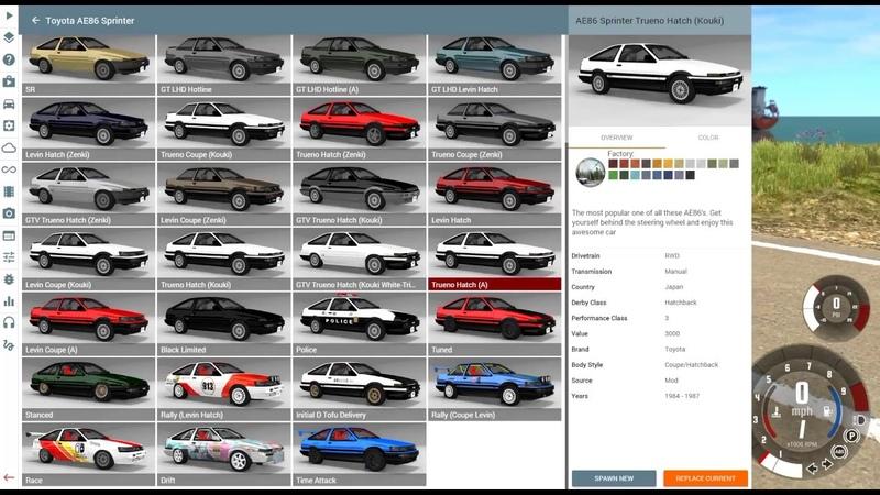 New AE86 Mod Car Pack in Beam NG! - BeamNG Drive