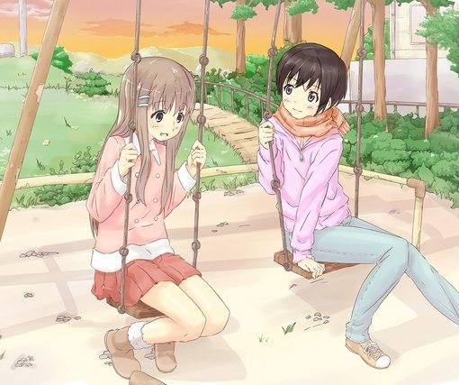 картинки аниме лучшие подруги: