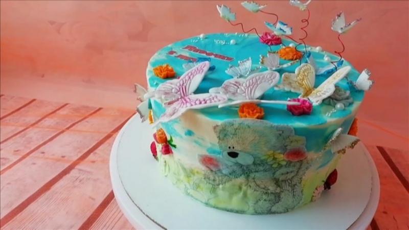 тортик для маленькой феи бабочек