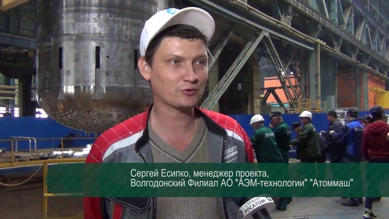 Контрольная сборка второго реактора Белорусской АЭС. шахта. октябрь 2016г