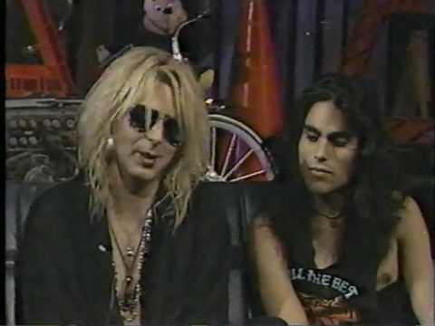 FASTER PUSSYCAT 1987 INTERVIEW PT 2 IN MTV STUDIOS VINTAGE HEADBANGER'S BALL