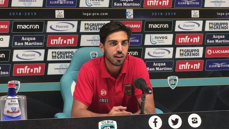 Christian Maldini dopo Olbia-Pro Piacenza 0-1