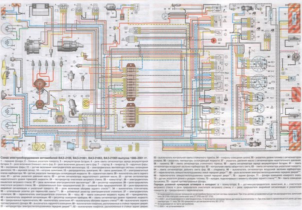 Вот общая схема проводки ВАЗ