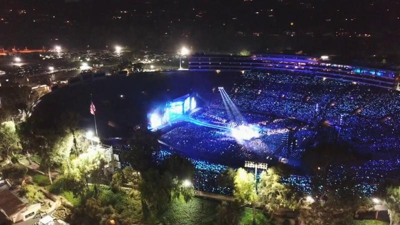 Drone Flight. BTS World TourRose Bowl Concert 5/4/19