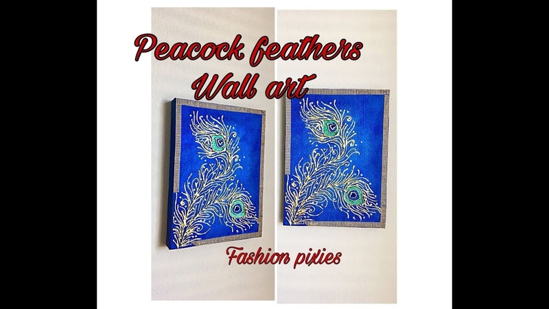 Peacock feathers wall artwall decor ideasfashion pixies