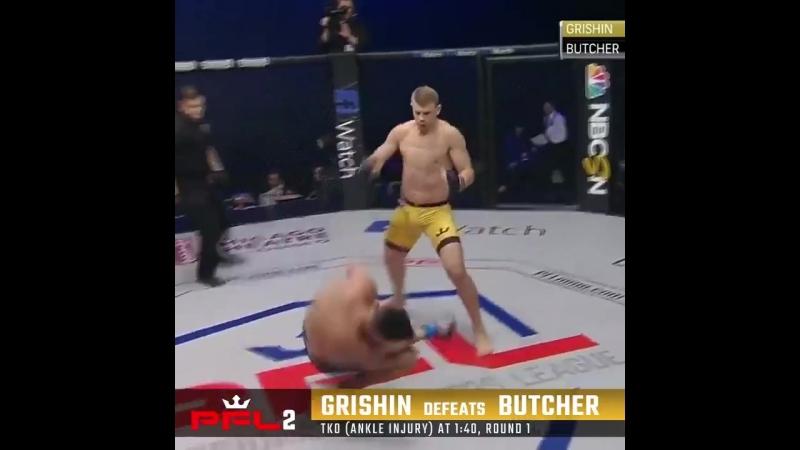 PFL2 results: Maxim Grishin def.Jason Butcher, TKO, 1:40 R1.