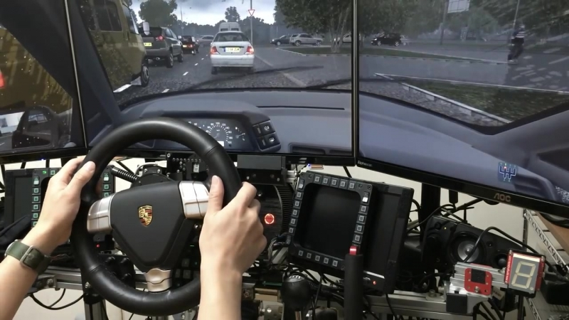 [RBR fan] [City Car Driving] Rainy day test drive with Porsche Turbo S rim on CSW v2