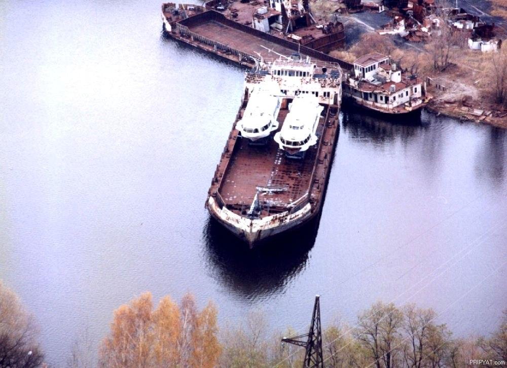 Припять кладбище радиоактивных кораблей