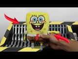 Experiment Shredding SpongeBob Squarepants And Toys The Crusher