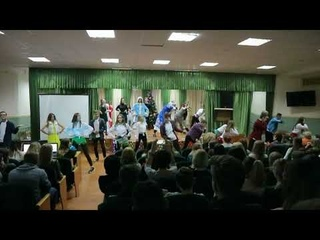 Новогодний флешмоб 2018. 9-11 класс. СШ14. г. БРЕСТ
