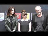 Game of Thrones: The Exhibition Maisie Williams  liam cunnigham  & Carice van Houten