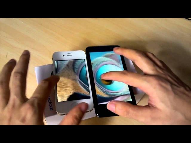 Iphone 4s vs zopo zp300