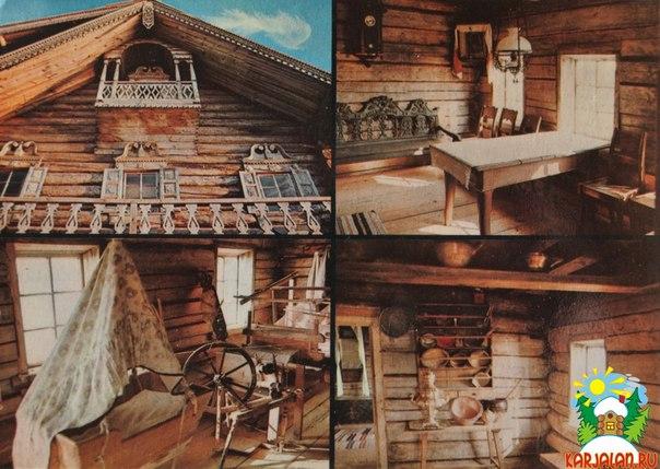 Остров Кижи. Фрагмент дома Ошевнева. Интерьеры этого дома.