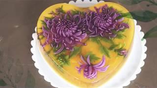 Thạch rau câu 3D: Lạc lối giữa ngàn hoa, kim y tế G18 | jelly cake | hướng dẫn làm thạch 3D đẹp nhất