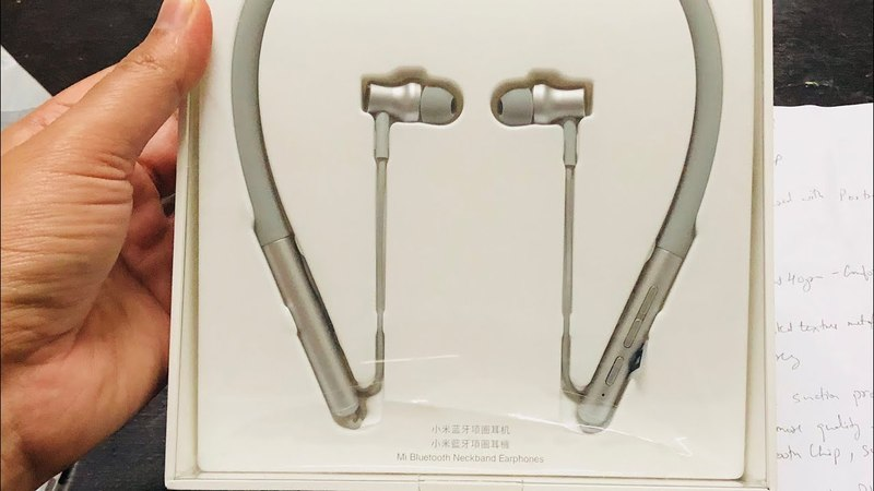 Mi Bluetooth Neckband Earphones Unboxing and First Impression