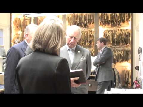 The Prince of Wales visits Savile Row tailor Anderson Sheppard