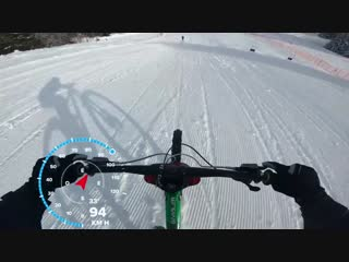 High speed Run on ski slope _ 105 Km_h