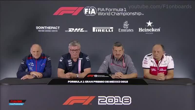 RUS F1 2018 Mexico GP Senior Team Personnel press conference