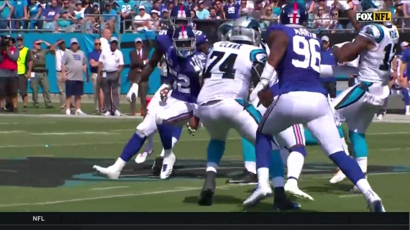 Cam Newton Lays Vicious Block Curtis Samuel CANT BE STOPPED for the TD!