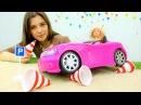 БАРБИ учиться водить машину. Видео для девочек про куклы игры для девочек. Мамы ...
