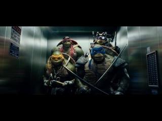 """Черепашки-ниндзя (2014) Фрагмент (дублированный) """"Лифт"""""""