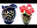 Stylish flower vase diy paper mache home decor newspaper vase making