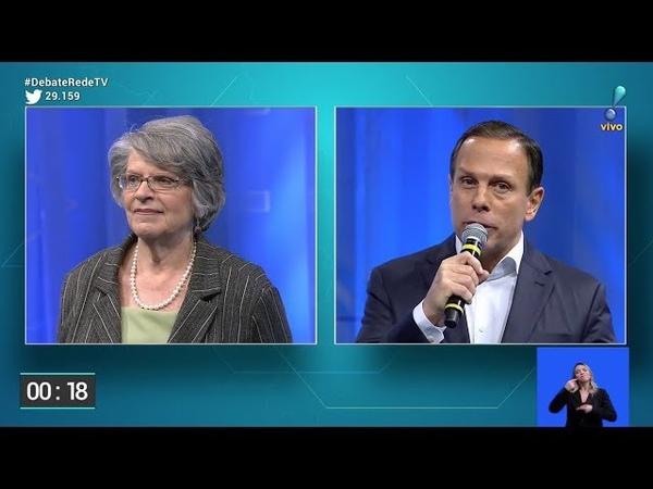 Professora Lisete 'reprova' João Doria em debate na RedeTV! por condenação na Justiça