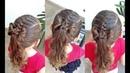 Penteado Infantil com trança raíz, amarração e laço de cabelo