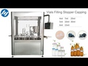 Automatic VACCINE vials feeding filling stopper inserting and crimp capping machine