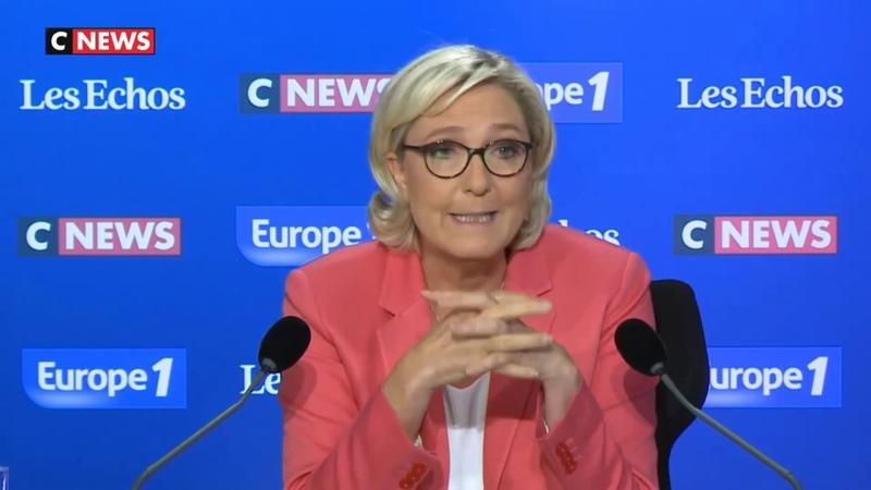 Marine Le Pen l'invitée du Grand Rendez vous 23 09