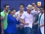 Victory celebration of KKR at Eden Shahrukh dances with June Malia