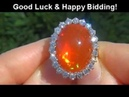 HARD TO FIND Red Green Flash Phenomenon Mexican Fire Opal Diamond Ring