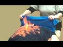 Огненный массаж. Демонстрация техники проведения чудодейственного массажа огннём