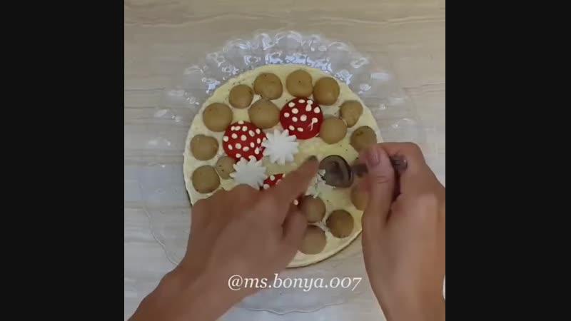 Праздничный салат Полянка! ⠀