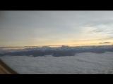 Заход на посадку в г. Куско. Город расположен на высоте 3400 м над уровнем моря.