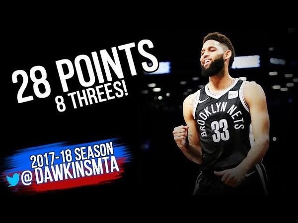 Allen Crabbe Full Highlights 2018.02.10 vs Pelicans - 28 Pts, 8 Threes! | FreeDawkins