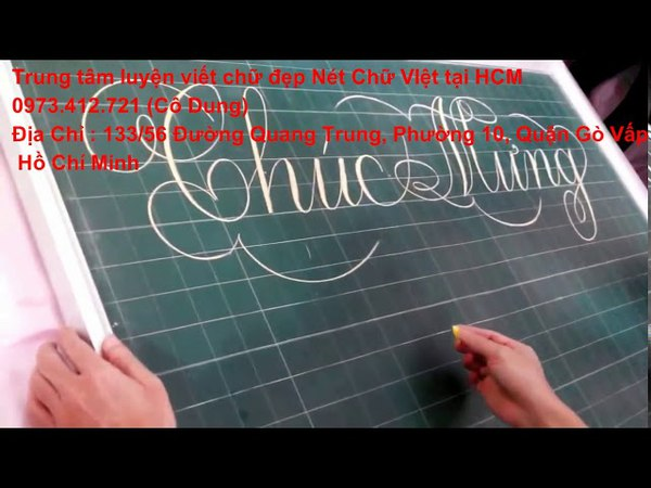 Luyện viết chữ đẹp hcm