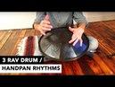 3 Rhythms for RAV Drum or Handpan - Tutorial with Matt Bazgier