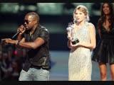 Тейлор Свифт победила на MTV VMA (2009). Канье Уэст прервал ее речь и заявил со сцены, что приз должен был достаться Бейонсе