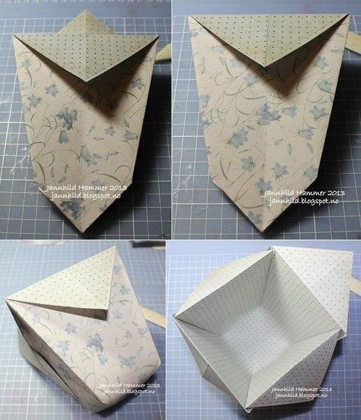 Как сделать коробок из газеты 571