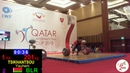 Евгений Тихонцов BLR Men 96kg IWF 5th International Qatar Cup Doha 2018