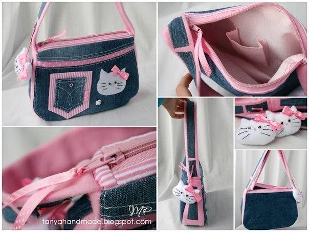 Детская джинсовая сумочка своими руками