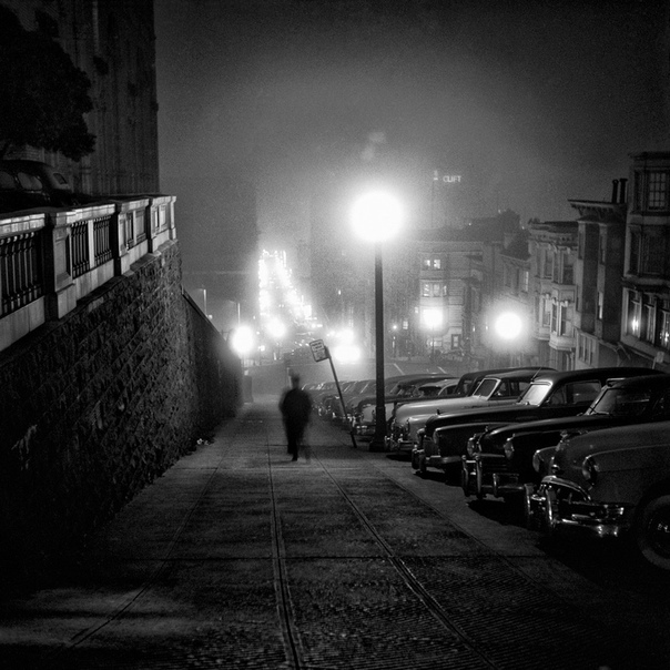 Уличные снимки Сан-Франциско 1940-60-х годов. Фотограф Фред Лион