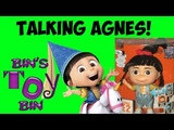Despicable Me 2 TALKING AGNES Interactive Doll Review! Toys R Us Exclusive! by Bin's Toy Bin