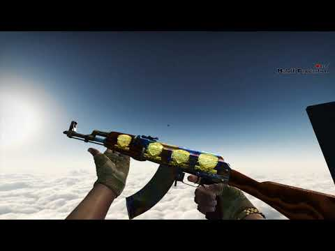 AK-47 | Case Hardened (Factory new) Gold stickers