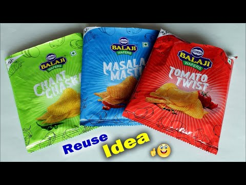 WOW Best Reuse Idea Out Of Waste Wrapper DIY Room Decor Idea Handmade Craft Waste mathi best