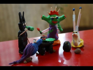 Plasticine animation. Alien Party. Part 1.